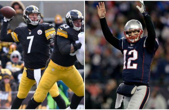 Big Ben y Tom Brady durante juegos de la NFL