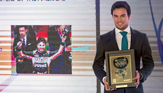 Sergio Pérez, en la entrega de los premios FIA Americas Awards 2016