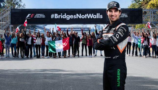 #BridgesNotWalls, la campaña del GPMX y Checo Pérez