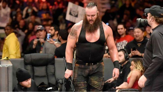 Braun Strowman durante un combate en Raw