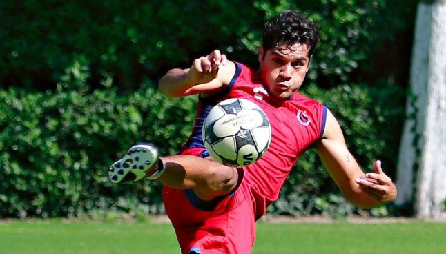 Javier Orozco en entrenamiento de Veracruz