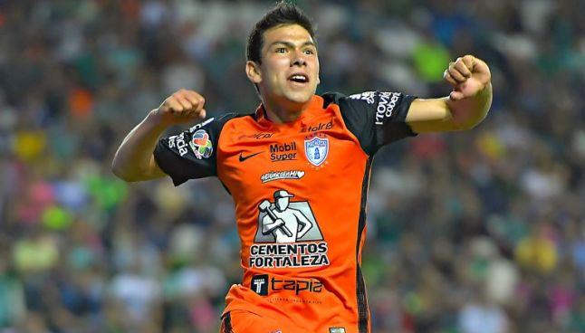 Lozano celebra un gol en el Nou Camp