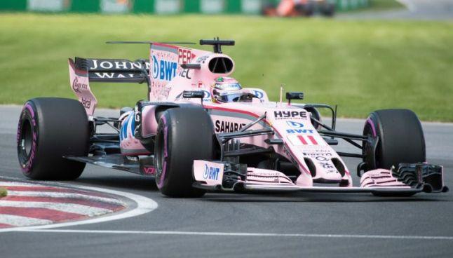 Monoplaza de Sergio Pérez, durante el GP de Canadá