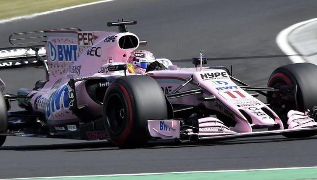 Checo Pérez, corriendo con su Force India