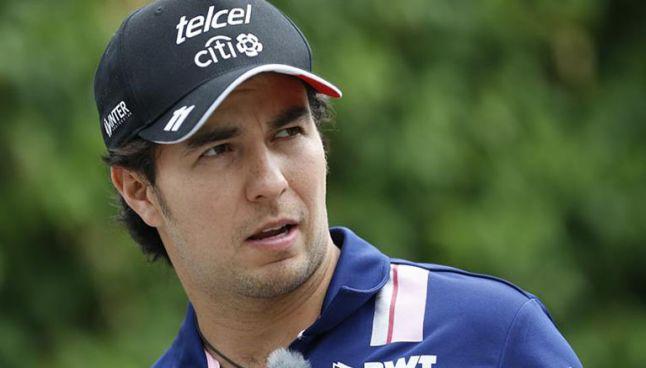 Checo Pérez previo a un GP de la Fórmula Uno
