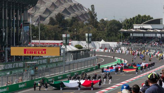 El AHR, durante el Gran Premio de México 2016