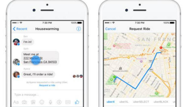 Messenger permitirá pedir Uber desde un conversación