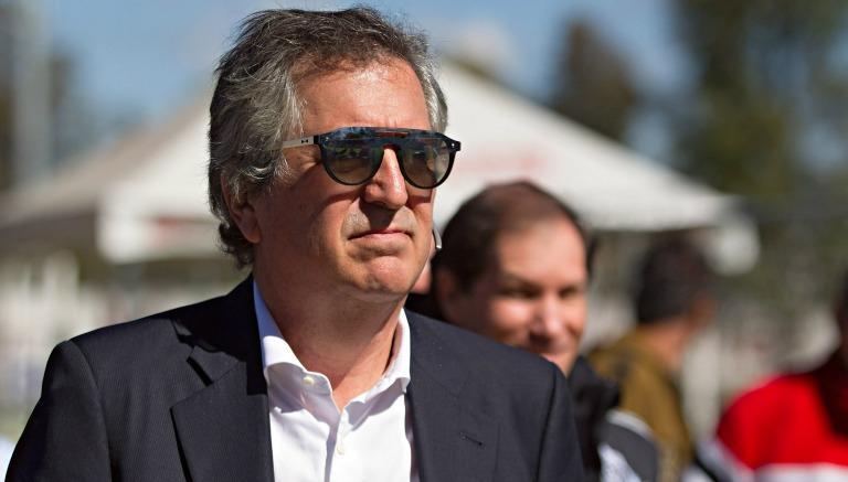 Jorge Vergara en un entrenamiento de Chivas