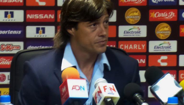 Almeyda, en conferencia de prensa al término del juego contra Dorados