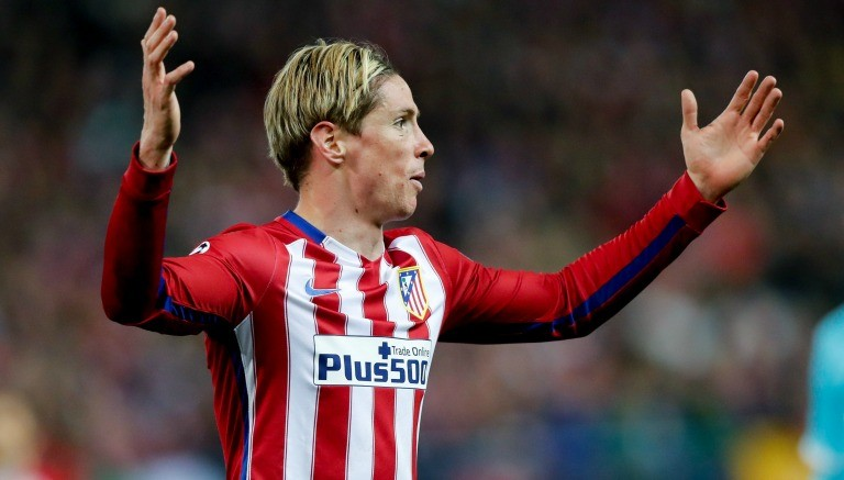 Torres se lamenta en un partido del Atleti