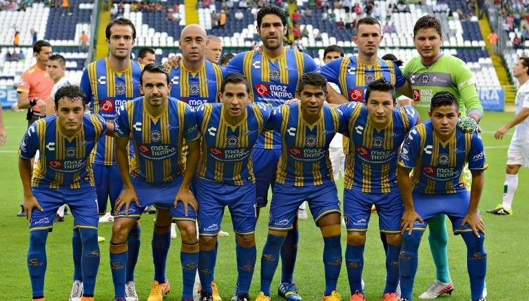 Jugadores del Atlético San Luis previo a un partido