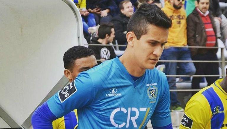 Raúl Gudiño en un partido del Madeira