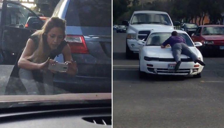 Ver VIDEO: #LadyOdyssey choca y amenaza a víctima