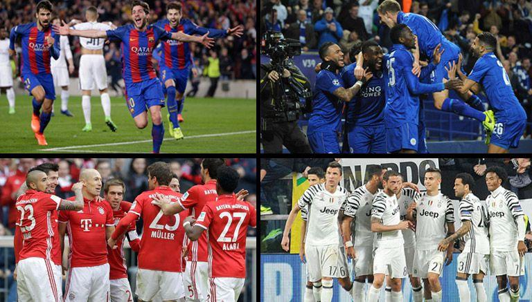 Cuatro de los ocho equipos clasificados a Cuartos de Champions