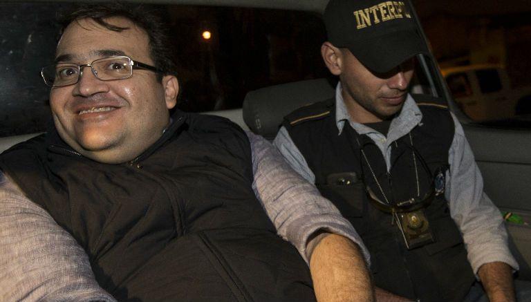 Javier Duarte, después de ser arrestado en Guatemala
