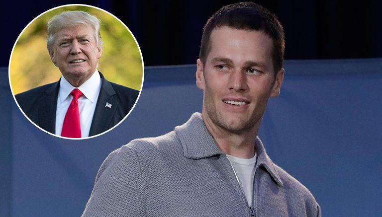 Tom Brady en una conferencia de prensa tras el Super Bowl