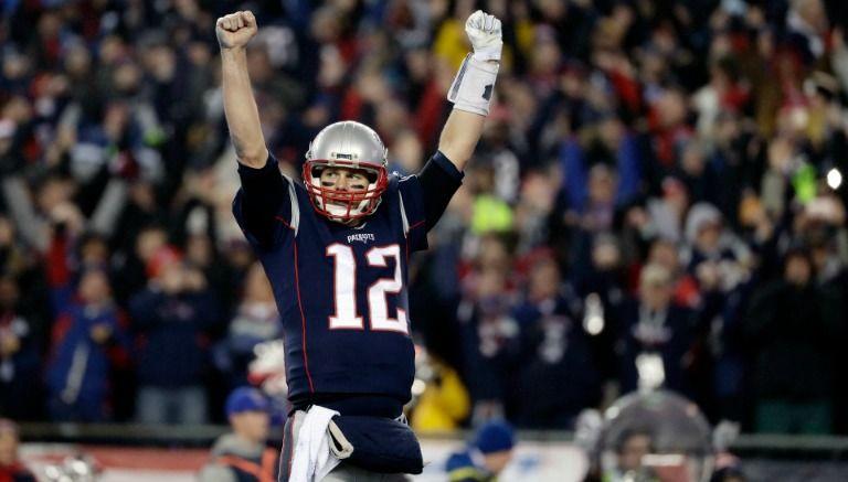 Tom Brady celebra un touchdown en la temporada 2017