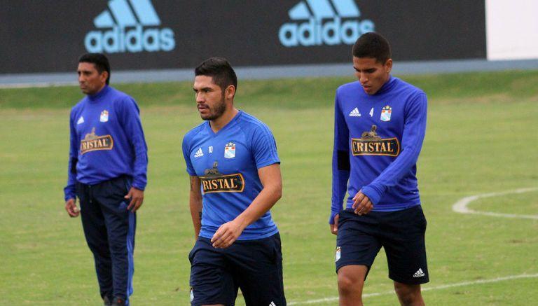 Jugadores del Sporting Cristal en un entrenamiento