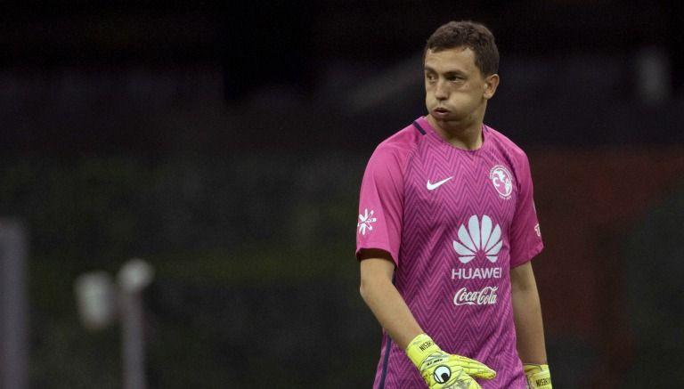 Agustín Marchesín durante un partido de las Águilas del América