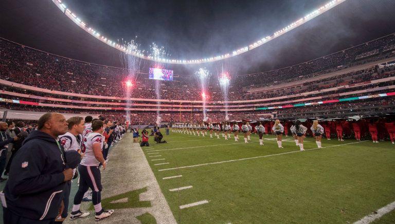 Foto panorámica del estadio Azteca durante el partido entre Oakland y Houston en 2016