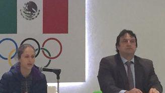 Daniela Campuzano, en conferencia de prensa