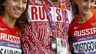 Mariya Savinova y Ekaterina Poistogova, medallistas en Londres 2012