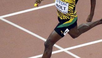 Bolt durante una competición en Jamaica
