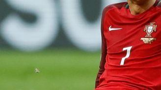 Cristiano Ronaldo llora tras su lesión en la Final de Euro
