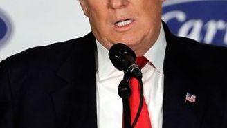 Donald Trump, durante una conferencia de prensa en Indianápolis