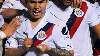 Javier López celebra su gol frente al Atlante en Copa Mx