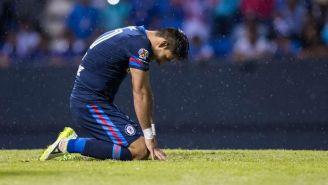 Benítez se lamenta en el partido frente a Puebla