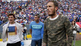 Cristian Campestrini en el partido contra Cruz Azul