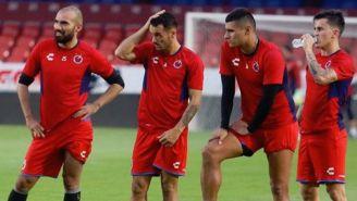 Jugadores del Veracruz entrenando previo al partido contra Monterrey