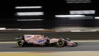 Sergio Pérez en el circuito de Bahrein