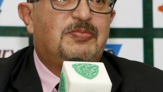 López Chargoy en una conferencia de prensa