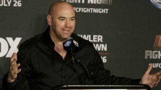 El presidente de la UFC atiende a los medios de comunicación