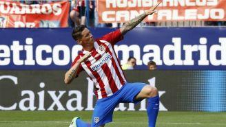 Niño Torres, durante la despedida del Vicente Calderón