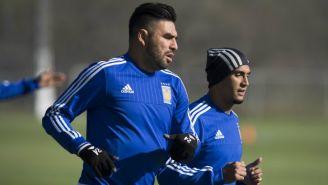 Rivas durante un entrenamiento con Tigres