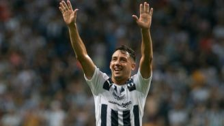 Iván Piris, durante el festejo de gol en el BBVA Bancomer
