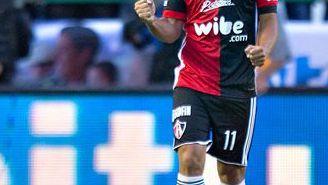 Alustiza celebra el segundo gol del Atlas