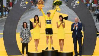 Christopher Froome celebra primer lugar del Tour de Francia