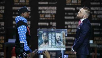 Mayweather y McGregor, frente a frente en la gira de promoción de su pelea