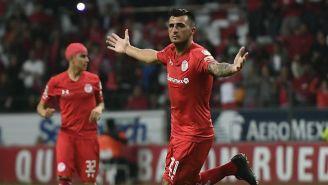 Triverio celebra un gol con Toluca