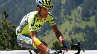 Alberto Contador, durante el Tour de Francia