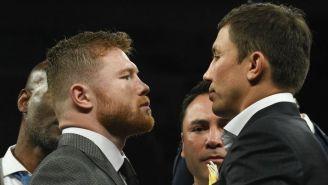 Canelo y Golovkin en el careo para la pelea del 16 de Septiembre
