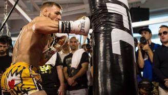 Conor McGregor muestra su habilidad en un entrenamiento