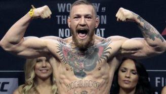 McGregor , durante una ceremonia de pesaje