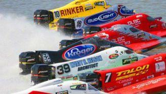 Carrera acuática de la F1 Champ Boat Series