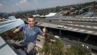 Pavel Gogulan, desde las alturas del edificio de RÉCORD