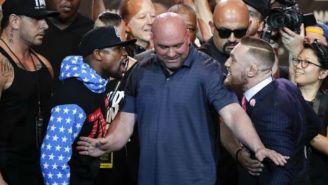 Mayweather y McGregor, en la gira de promoción de su pelea